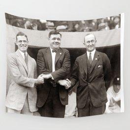 Babe Ruth, George Sisler, Ty Cobb  Circa 1924 Wall Tapestry
