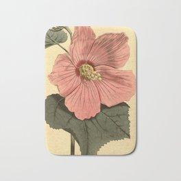 Vintage Illustration of a Hibiscus Flower (1806) Bath Mat