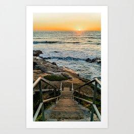 Sunset Stairs Art Print