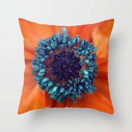 Poppy Macro Throw Pillow