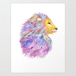 A Roaring Cascade Art Print