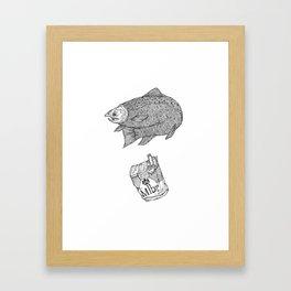 Fish Smokes Framed Art Print