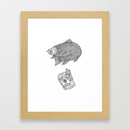 Fish Smokes Framed Art Print