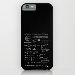 The answer to life, univers, and everything. iPhone Case
