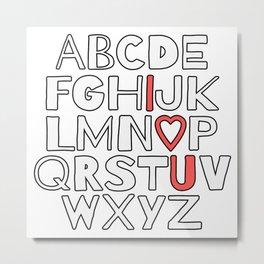 ABC I Love You Metal Print