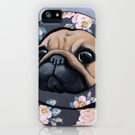 A Pug in a Cold Day iPhone Case