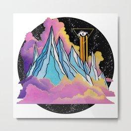 Moonless Mountain Metal Print
