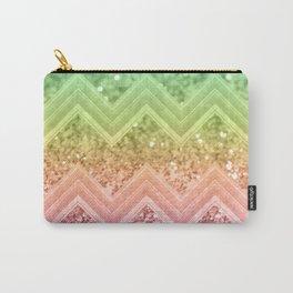 Rainbow Glitter Chevron #1 #shiny #decor #art #society6 Carry-All Pouch
