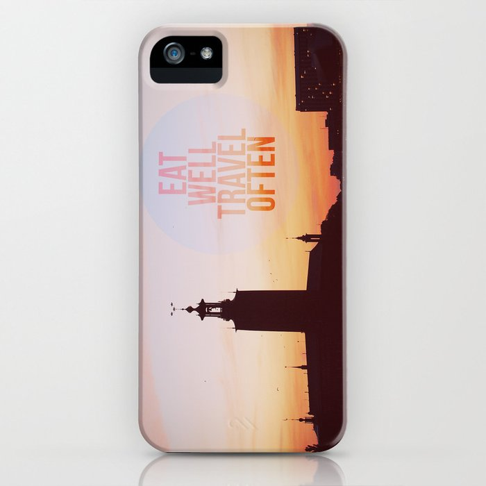Eat Well Travel Often iPhone Case