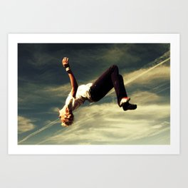 Backflip Art Print