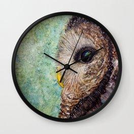 Wise Barred Owl Wall Clock