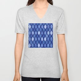 Calm Blue Wet Pastels Inspired by Waves and Tiny Seashells Unisex V-Neck