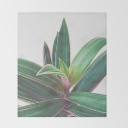 Oyster Plant Throw Blanket