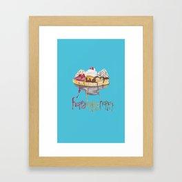 Ice Cream Case Framed Art Print