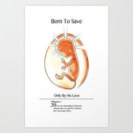 Fetus Jesus Art Print