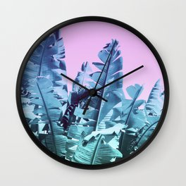 Pop-art palms Wall Clock