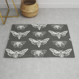 Geometric Moths inverted Rug