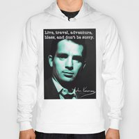 kerouac Hoodies featuring Jack Kerouac by Guido prussia