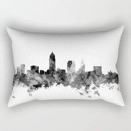 Cleveland Ohio Skyline Rectangular Pillow