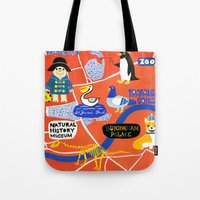 london map Tote Bags featuring LOndOn Map by HuiSkipp