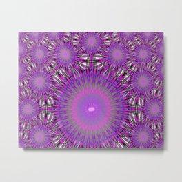 Ultraviolet Orbs Metal Print