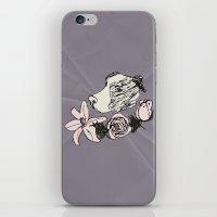 pitbull iPhone & iPod Skins featuring Majestic Pitbull by Carrillo Art Studio