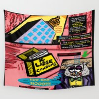 infamous Wall Tapestries featuring Bird of Steel Comix - Page #3 of 8 (Society 6 POP-ART COLLECTION SERIES)  by Tex Watt