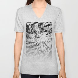 B&W Abstract Spiral Unisex V-Neck