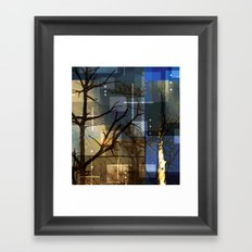 Posterize Dead Trees Framed Art Print