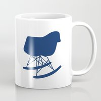 eames Mugs featuring Eames Rocker by Green Bird Press