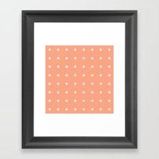 Peach Cross // Peach Plus Framed Art Print