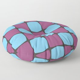 Blue and Purple Pattern Floor Pillow
