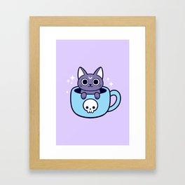 Black Magic Tea / Coffee Cat 01 Framed Art Print