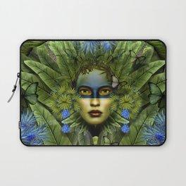 """Tropical green and indigo jungle Woman"" Laptop Sleeve"