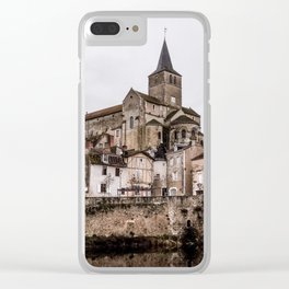 French village landscape Clear iPhone Case