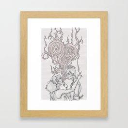 Smoke Rings Framed Art Print