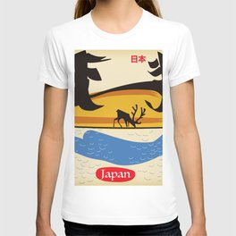 Japan vintage  travel poster. T-shirt