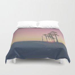Venice Beach Sunset Duvet Cover
