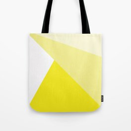 Simple Geometric Triangle Pattern - White on Yellow - Mix & Match with Simplicity of life Tote Bag