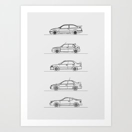 GROUP A RALLY CARS Art Print
