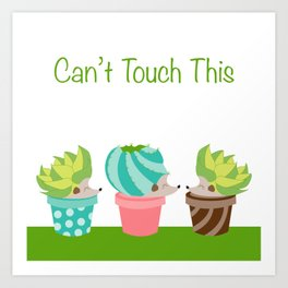 Can't touch this succulent hedgehogs Art Print