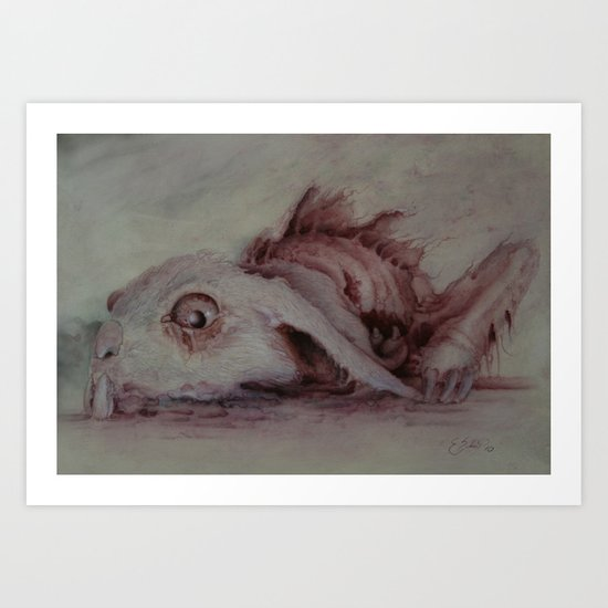 Even among the fastest Art Print