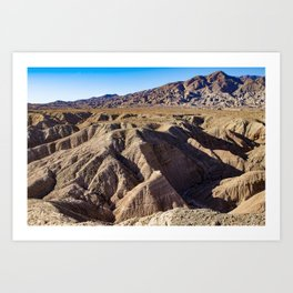 View towards Granite Mountain in the Anza Borrego Desert State Park, California, USA Art Print