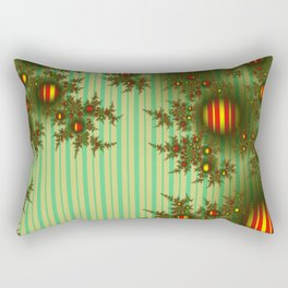 Vintage Christmas fractal Rectangular Pillow