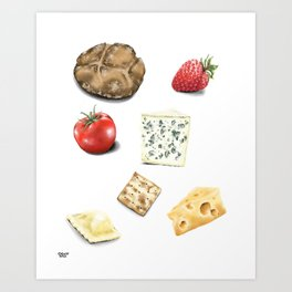 Food Sketches Art Print