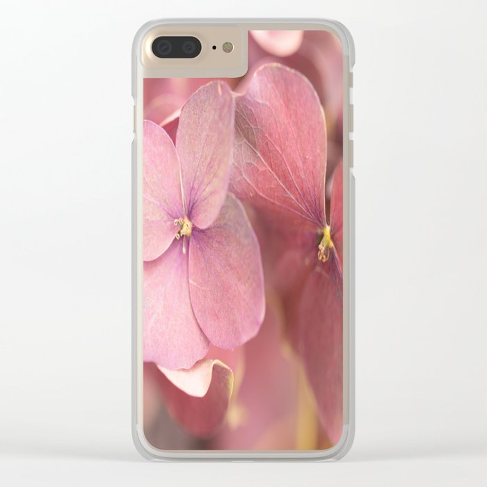 Hortensia Flower Pink Hydrangea #decor #society6 Clear iPhone Case