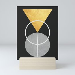 Golden polygon II Mini Art Print