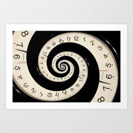 Horloge Art Print