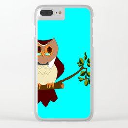 A Wise Ole Owl on a Branch Clear iPhone Case