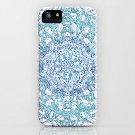 Aqua Lace Mandala iPhone Case